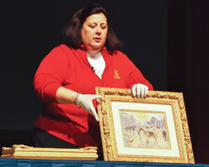 Dr. Lori appraises antiques on the spot and teaches audiences how to identify valuable pieces.