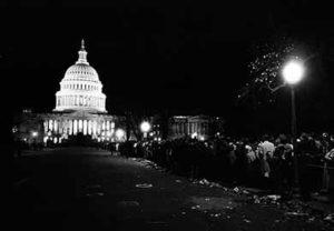 "U.S. Capitol during JFK ""Death Watch."""