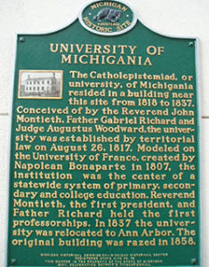 Founding marker for the U
