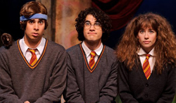 The stars of 'A Very Potter Musical' and 'A Very Potter Sequel,' U-M students starring U-M students Joey Richter, Darren Criss (later of 'Glee') and Bonnie Gruesen.