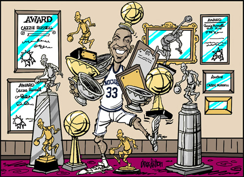 Cazzie Russell by Drew Litton