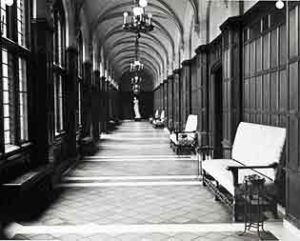 Cook hallway, courtesy of U-M's Bentley Historical Library.