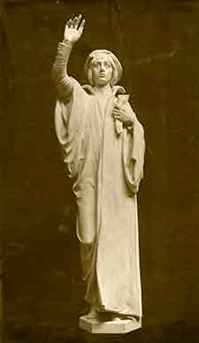 Cook statue, courtesy of Bentley Historical Library.