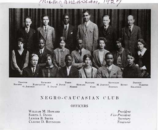 Negro-Caucasian club members.