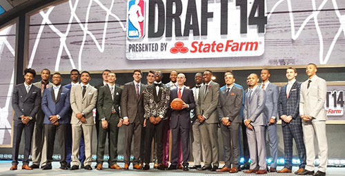 Stauskas with other 2014 draftees.