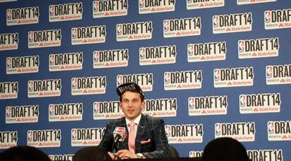 Stauskas press conference at the 2014 NBA Draft.