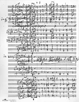 Image of Toscanini score