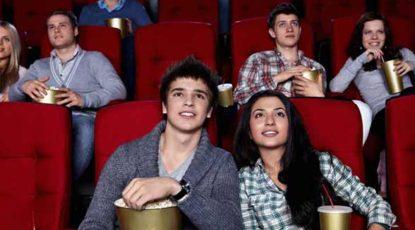 Kids in theater, stock