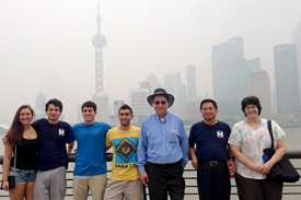 GILGENBACH WITH NERS STUDENTS IN SHANGHAI.