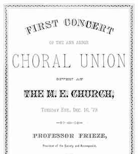 Choral Union concert program, 1879