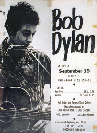 Dylan poster, 1964