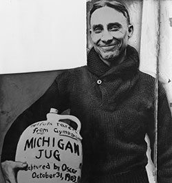 Munson with little brown jug.