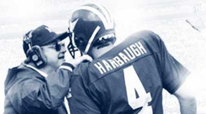 Schembechler with Harbaugh