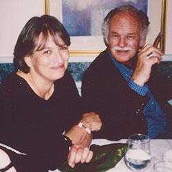 Manchip White with Elena Delbanco