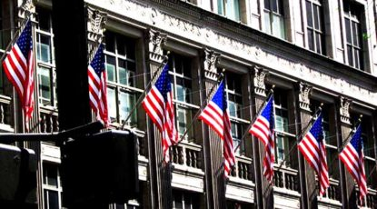 Flags, Wall Street, stock.