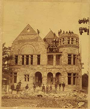 Newberry Hall under construction, ca., 1888.