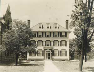 East facade, Newberry residence.