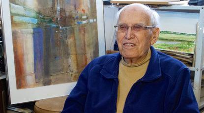 Bill Lewis in his studio.