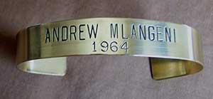 Sample bracelet from nonprofit organization International Possibilities Unlimited,