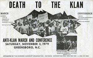 Death to Klan poster, Greensboro, NC, 1979