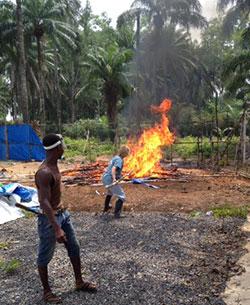 Belinda Fish stokes the flames in Sierra Leone.