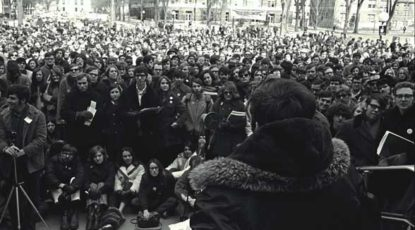 A 1970 teach-in for the environment.