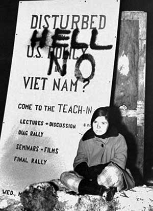 Teach-in sign, 1965.
