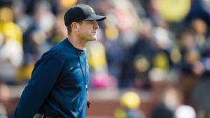Harbaugh, spring football, 2015