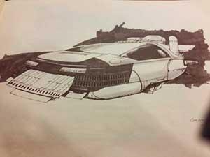 Blade Runner, Spinner Sketch