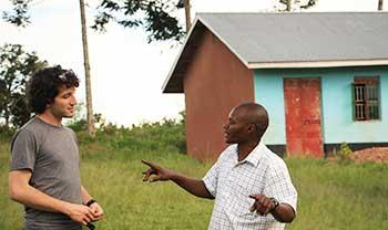 Building a local school in Uganda.