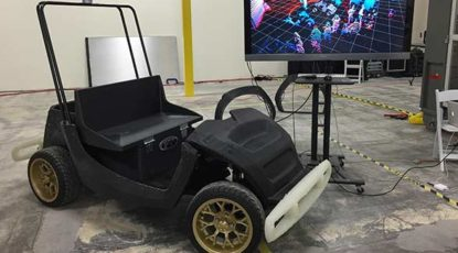 Automated smart cart. Credit: Local Motors