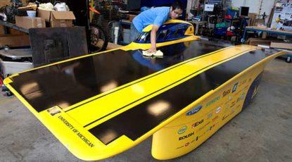 Solar car 2015, courtesy of COE.