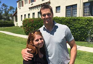 Haley Geffen with Tom Brady.