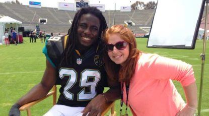Haley Geffen with Denard Robinson