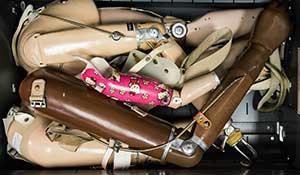 Drawer full of prosthetics