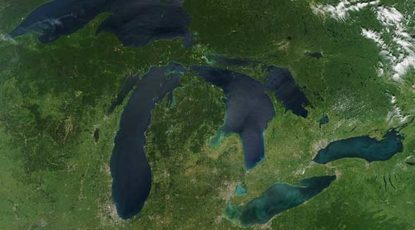 Aerial shot, Michigan