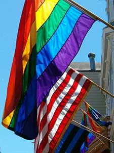 Rainbow flag, stock