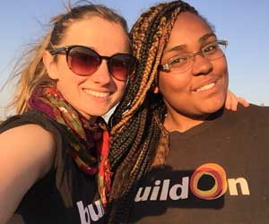 Leah Ouellet and Che'Kenya Goodwin