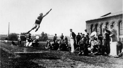 Jesse Owens at U-M, 1936.