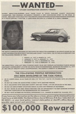 1977 Wanted Poster, OCCK, A Father's Story