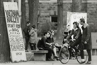 U-M Campus, late '60s, Bentley Historical Library.