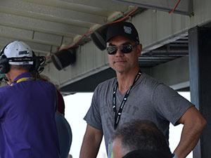 Renne inside Daytona International Speedway