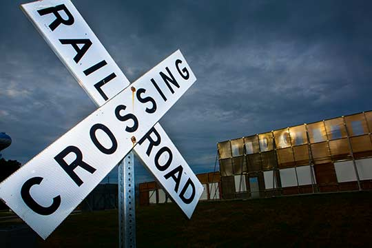 Mcity railroad crossing
