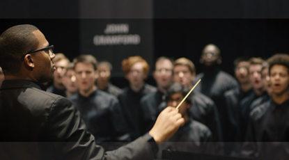 Men's Glee Club conductor