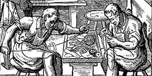 Medieval guild, illustration
