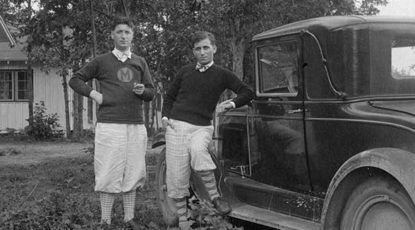 Brothers Nicholas and Leonard Falcone. (Image courtesy of the Michigan State University Archives and Historical Collection.)