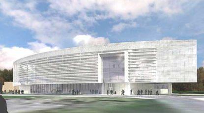 Artist's rendering of robotics building, 10-16