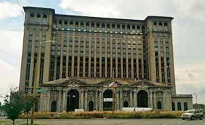 Detroit's Michigan Central Station (via Wikipedia).
