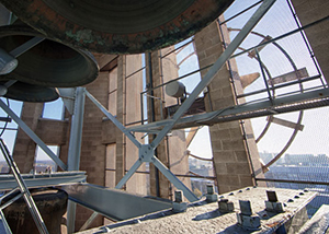 View from inside the Baird Carillon. (Image: Michigan Photography.)