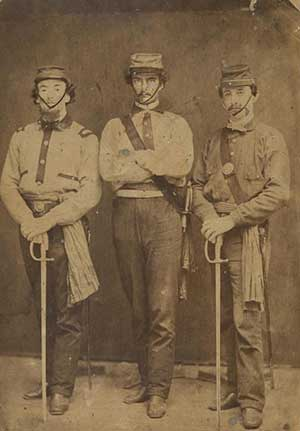Union soldiers, 1861, Bentley Historical Library